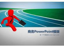 奔跑的3d小人商务PowerPoint模板下载