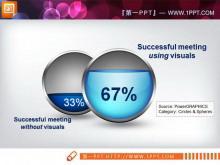 并列对比关系的PPT图表素材