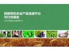 农业产品流通平台分析报告PPT下载