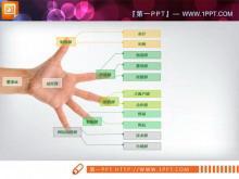 手掌PPT组织结构图素材下载
