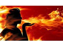 女神与火焰PowerPoint背景图片
