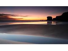 优美的海滩自然风光PPT背景图片