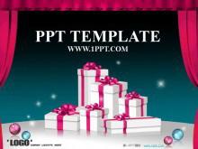 圣诞节礼物背景的PowerPoint模板下载