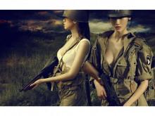 二战女兵军事PPT背景图片