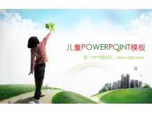 淡雅儿童PowerPoint模板下载