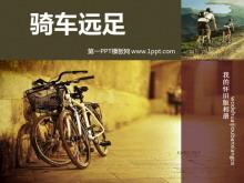 骑行者旅行相册PowerPoint模板下载