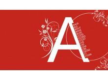 一套精美的红色艺术花纹PowerPoint模板