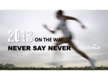 高速奔跑的运动员PowerPoint模板下载