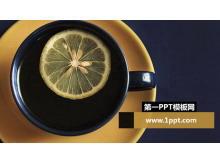 柠檬水PowerPoint背景模板下载