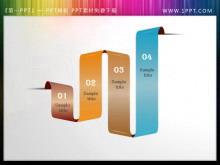 彩带样式的PowerPoint目录素材下载