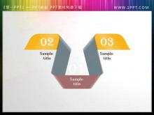 折叠彩带PowerPoint目录模板免费下载