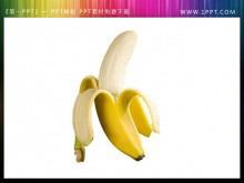 透明背景的香蕉PPT小插图素材免费下载