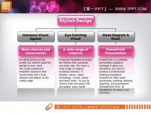 粉色水晶风格的架构图幻灯片模板下载