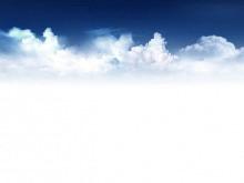 精美的蓝天白云幻灯片背景图片
