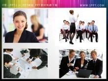 一组商务人士工作团队幻灯片插图素材下载