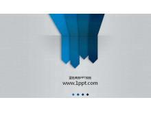 灰色背景蓝色箭头商务PowerPoint模板下载