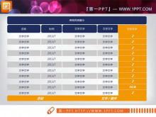 一份实用且常有的PPT数据表格模板