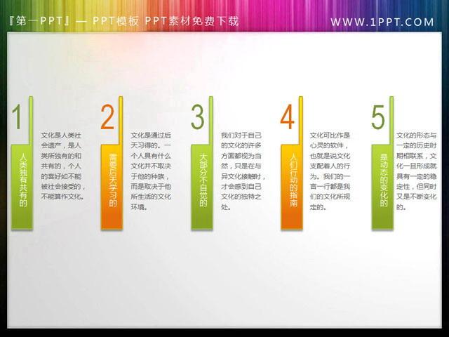 实用的并列排列PPT目录素材