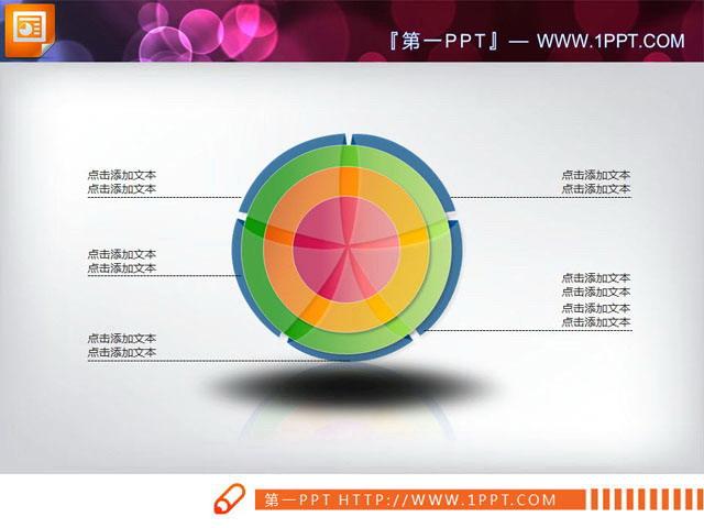精美的包含关系PPT图表模板
