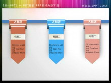 �t�{粉三色彩��PowerPoint目�模板