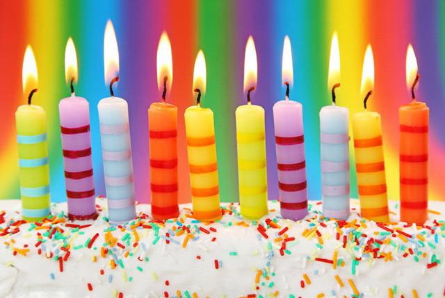 生日蜡烛PowerPoint背景图片下载
