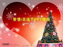 动态温馨浪漫的圣诞节PowerPoint模板下载