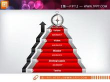 精美的层级递进关系PowerPoint图表下载