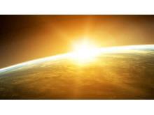 星球阳光宇宙风光PowerPoint背景模板