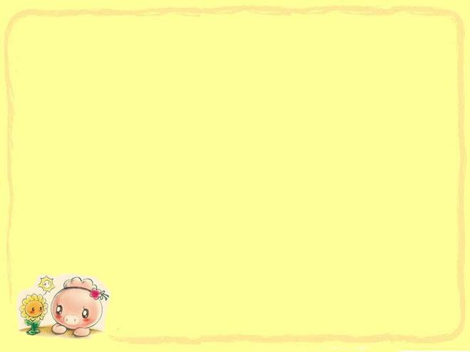 一组淡黄色背景的卡通PowerPoint背景模板下载