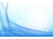 蓝色线条艺术PowerPoint背景图片