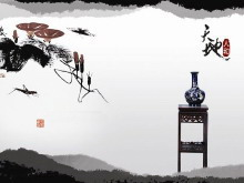 一组中国水墨画背景的古典中国风m88.com图片