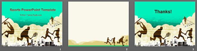 复古风格的运动会PowerPoint模板下载