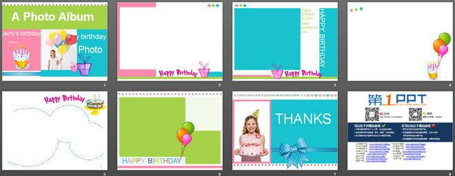 国外生日快乐PPT模板下载