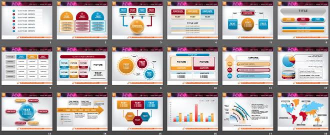 精美PowerPoint图表模板打包下载