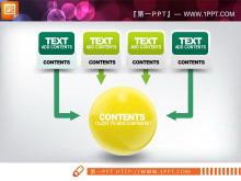 淡雅黄色与绿色幻灯片图表中国嘻哈tt娱乐平台打包tt娱乐官网平台