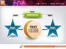 橙色绿色蓝色构成的PowerPoint图表中国嘻哈tt娱乐平台打包tt娱乐官网平台
