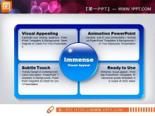 蓝色3d立体水晶风格幻灯片图表中国嘻哈tt娱乐平台打包tt娱乐官网平台