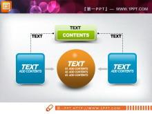 橙色绿色蓝色搭配的幻灯片图表中国嘻哈tt娱乐平台打包tt娱乐官网平台