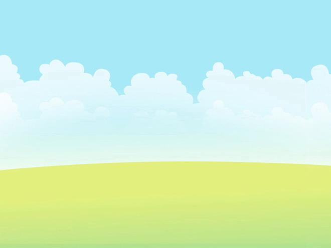 清新淡雅的卡通幻灯片背景模板下载