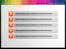 橙色水晶风格的幻灯片目录素材下载