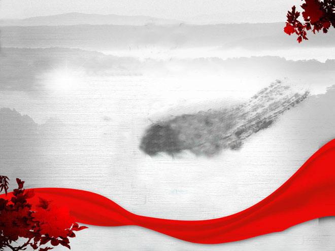 淡雅山水画背景素材 古典山水画背景素材 水墨山水画背景素材