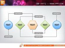 简洁的关联关系PPT图表下载