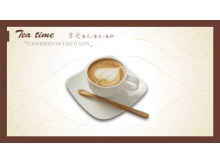 咖啡下午茶PowerPoint模板下载