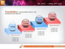 六张层级递进关系PPT图表模板下载