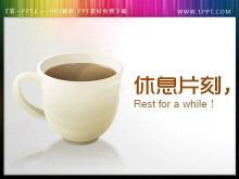 咖啡杯背景的幻�羝��Q�鲂菹⑺夭南螺d
