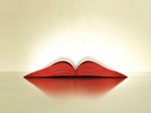 远看似红唇的翻开课本幻灯片背景图片