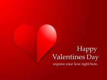 Happy Valentine's Day情人节快乐PPT模板下载