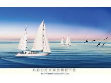一组帆船运动幻灯片背景图片下载
