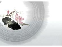 十一张实用的水墨中国风幻灯片背景图片下载