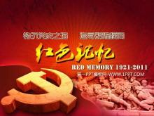 精美的红色动态建党节幻灯片封面片头